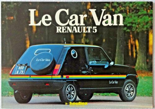 1980 Renault 5 LeCar Van by Heuliez Sales Brochure Français Depliant Shagwagon