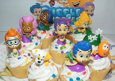 Bubble Guppies Cake Toppers Set of 10 Fun Figures Party favors  - Bubble Guppies Cake Toppers
