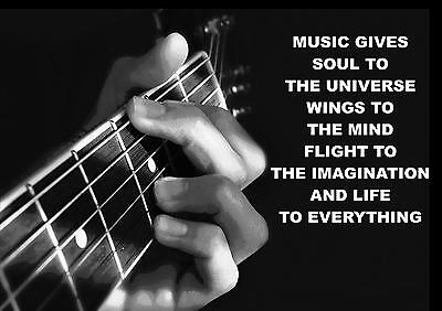 MUSIC, GUITAR, GUITARIST INSPIRATIONAL / MOTIVATIONAL QUOTE POSTER / PRINT (2)