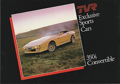 TVR 350i Convertible Brochure - Excellent Condition - c.1984