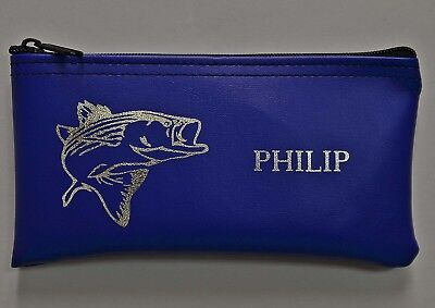 Personalized Tackle Box (Personalized Fishermans Money Bag Small Tackle Box-Bag Cash Pouch Custom)