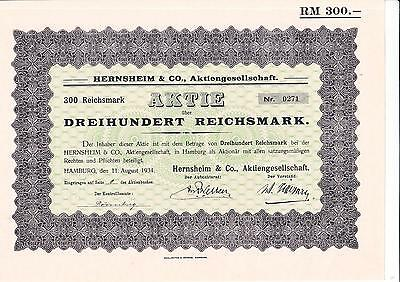 Hernsheim & Co. AG, Hamburg 1934 - Kolonialgesellschaft - Kein Barov -