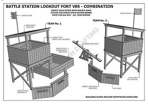 Tree house cubby house fort combo build with ya kids for Free treehouse blueprints