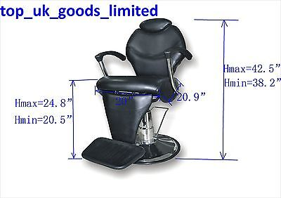 Barber Chair Salon Hydraulic Recline Beauty Spa Shampoo Black NEW
