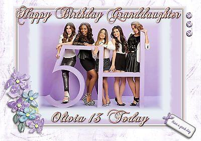 personalised birthday card fifth harmony daughter grandaughter sister