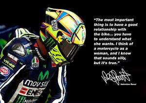 Valentino Rossi poster # 1 - Motivational Print - motorcycle road racer - A4