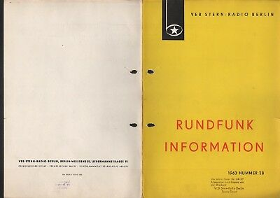 BERLIN, Prospekt 1963, VEB Stern-Radio Berlin Kofferempfänger stern 4