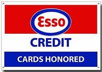 Grande A3 Tamaño Esso Tarjetas De Crédito Con Honor Enamelled Metal Letrero -  - ebay.es