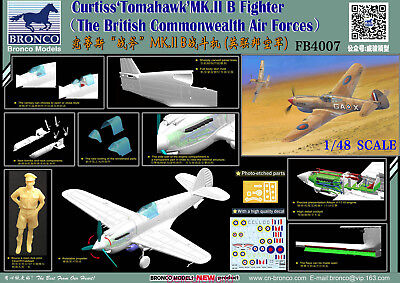 Bronco 1/48 FB4007 Curtiss ''Tomahawk'' Mk.II B Fighter British Air Forces