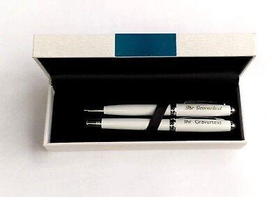 Piano Lackdesign Kugelschreiber und Tintenschreiber im Etui mit IHRER Gravur   ()