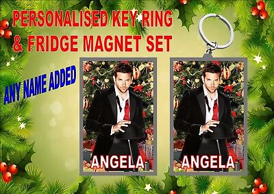 Bradley Cooper Christmas Key Ring & Fridge Magnet Gift Set Secret Santa Gift  ()