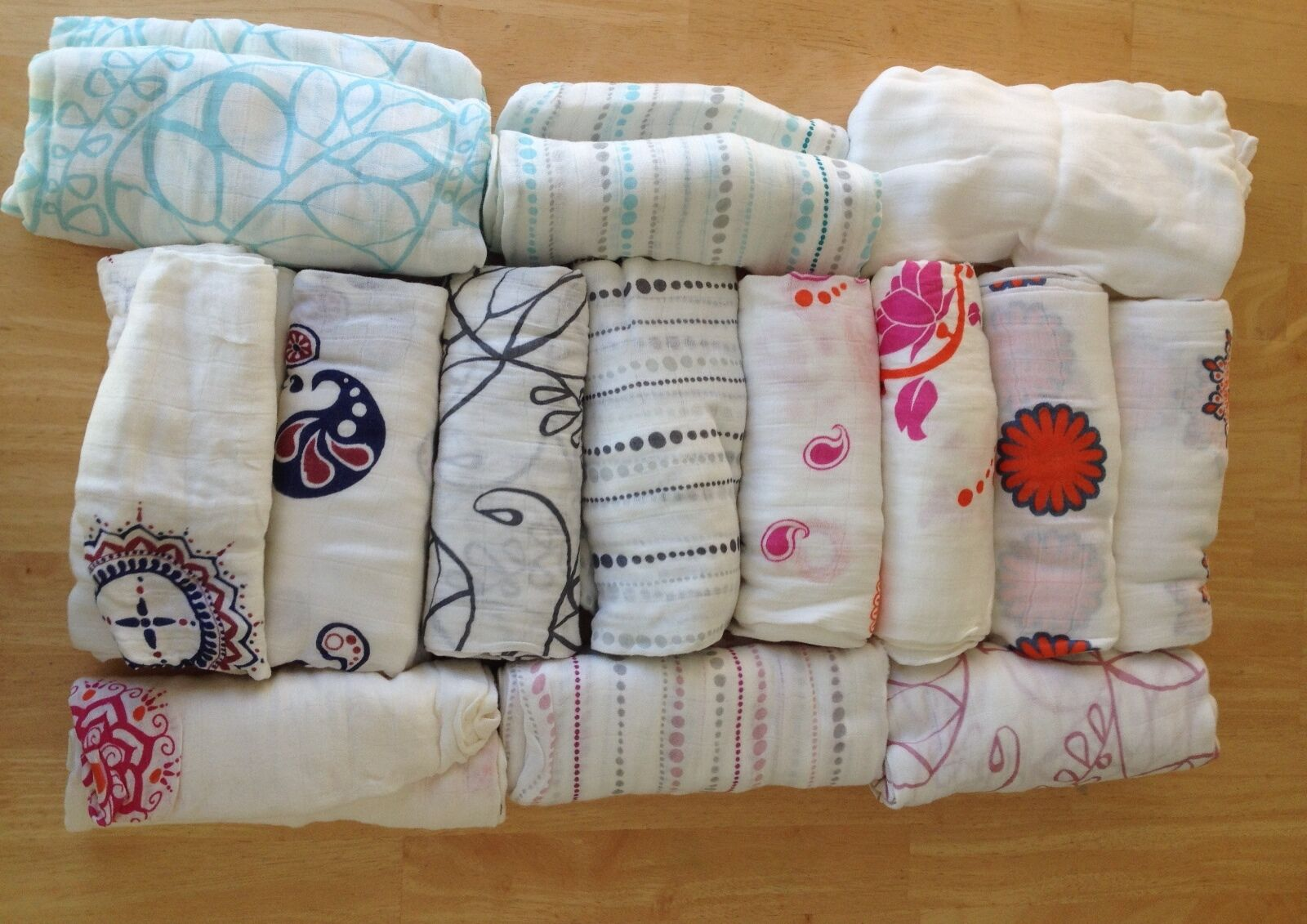 """New Aden and Anais Bamboo Swaddle Blanket Boutique 47"""" x 47"""""""
