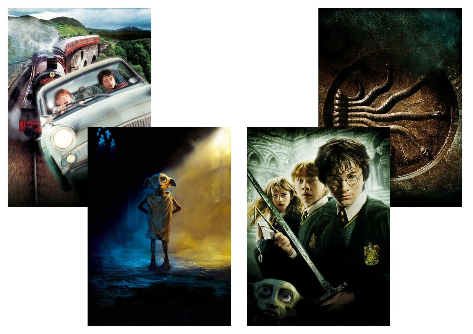Harry Potter and the Chamber of Secrets,  Dobby  Textless A5 A4 A3 Movie Poster