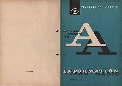 BERLIN, Prospekt 1965, VEB Stern-Radio Berlin Autoportable A 110