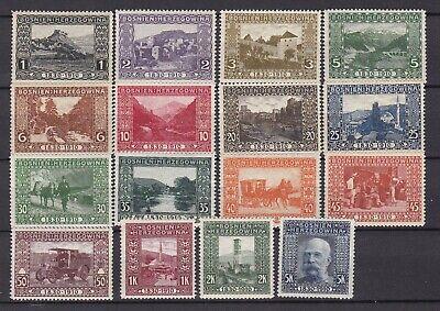 Bosnia Herzeg - 1910 -  Michel 45/60 - MNH -  190 Euro