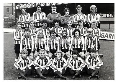 Football Art Print - Sunderland AFC Team Image 1978/79 Black & White