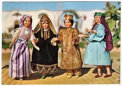 AK Puppe, Puppenkarte /  Puppen aus Nabeul in Tunesien in Landestracht