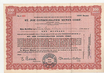 St. Joe Consolidated Mines Corp. 1935 rot