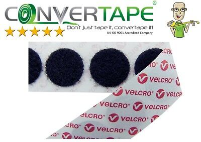 - VELCRO® Brand PS14 Self Adhesive Hook & Loop Dots Coins Circles 22mm|2.2cm BLACK