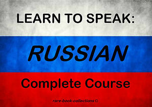 LEARN TO SPEAK RUSSIAN - LANGUAGE COURSE - 4 BOOKS & 4.5 HRS AUDIO MP3 ON DVD