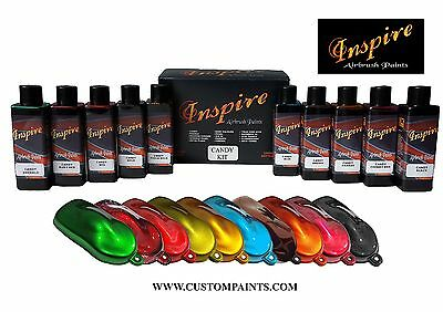 Airbrush Motorcycle Paint (Inspire Airbrush Candy Kit (Solvent), CUSTOM PAINT, HOK, MOTORCYCLE, PPG, DUPONT )