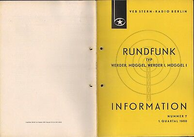 BERLIN, Prospekt 1960, VEB Stern-Radio Berlin Typ Werder Müggel Werder I Müggel