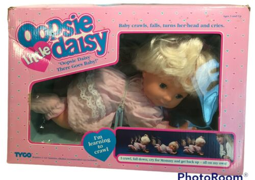 Little Oopsie Daisy TYCO 1991 Blonde Baby New NOS Crawls Falls Turns Head Cries