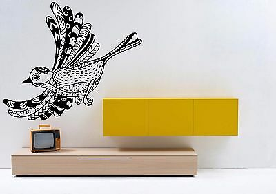 Wall Room Decor Art Vinyl Sticker Mural Decal Zentangle Bird Relaxation FI1061