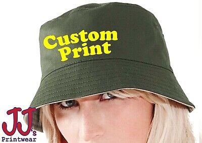 Personalised custom printed Reversible Bucket Hat,holiday,festival,sun,fishing](Personalized Bucket Hats)