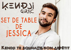 set de table plastifi kendji girac pr nom personnalis envoi gratuit ebay. Black Bedroom Furniture Sets. Home Design Ideas