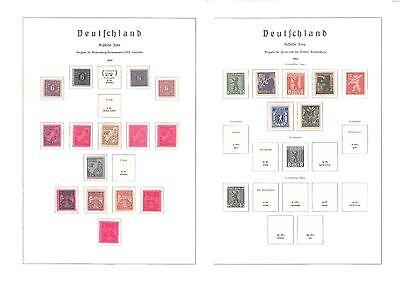 Sammlung SBZ - inkl. 6 Blocks - siehe 12 Bilder