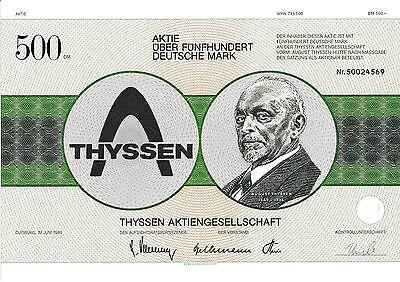 Thyssen AG Duisburg histor. DM Aktie 1986 Düsseldorf Mülheim Essen ThyssenKrupp