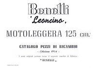 Catalogo Pezzi Di Ricambio Benelli Leoncino 125 Cc -  - ebay.it