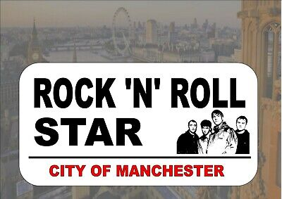 Oasis Novelty Reproduction Street Sign Rock N Roll Star Oasis - Star Street Sign