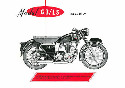1957 Matchless G3/LS 350cc motorcycle poster