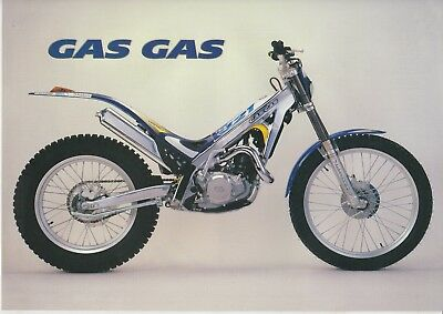 Genuine new original old stock GasGas contact Trials brochure