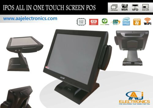 IPOS All In One Touch Screen System 4GB RAM/128GB SSD/WiFI Restaurant/Retail POS