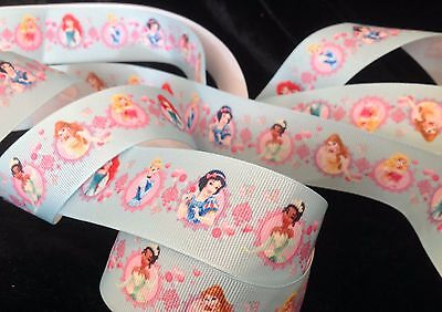 1.5 inch turquoise PRINCESS theme birthday party grosgrain RIBBON Disney - 1 yd