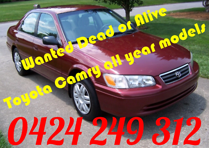 Wanted: Wanted dead or alive toyota camry 1992 & up