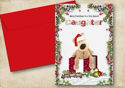 PERSONALISED BOOFLE CHRISTMAS GREETING CARD SON,DAUGHTER,MUM ANY RELATIVE  ()