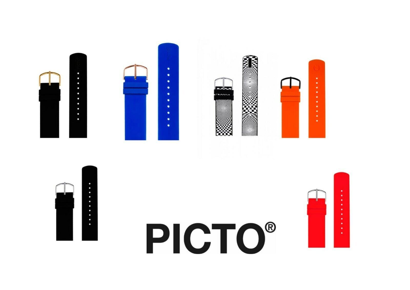 Picto Silikon Uhrenarmband 20mm