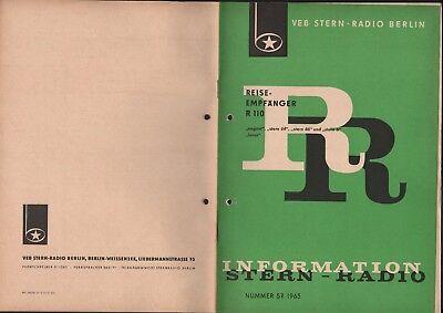 BERLIN, Prospekt 1965, VEB Stern-Radio Berlin Reiseempfänger R 110