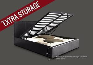 ONLINE CHEAP STORAGE GAS LIF DOUBLE QUEEN KING SIZE LEATHER BED Hoppers Crossing Wyndham Area Preview
