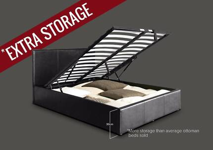 ONLINE CHEAP STORAGE GAS LIF DOUBLE QUEEN KING SIZE LEATHER BED