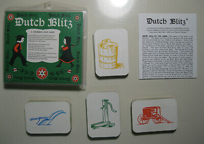 Dutch Blitz Card Game, Copyright 1973, Complete, with Instructions Dutch Card Game
