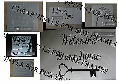 Buy Boxes Cheap (Vinyl Stickers  CHEAP - BARGAIN Vinyl Stickers for DIY Box Frames  Memorial)