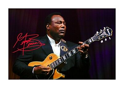 George Benson A4 reproduction autograph picture poster with choice of frame.