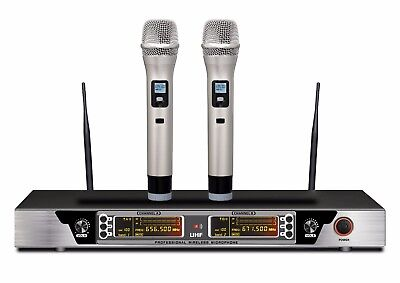 - Guarda 200-Channel Dual Professional Wireless Microphone System 240 ft range max