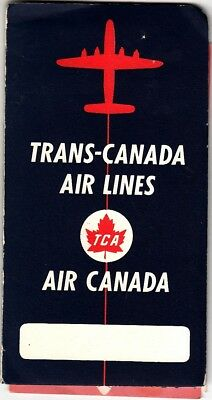 Trans Canada Airlines Air Canada Vintage 1950S Vintage Ephemera Lot In Folder