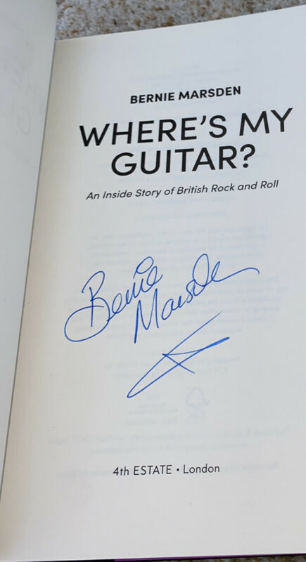 Bernie Marsden Signed Book Where's My Guitar